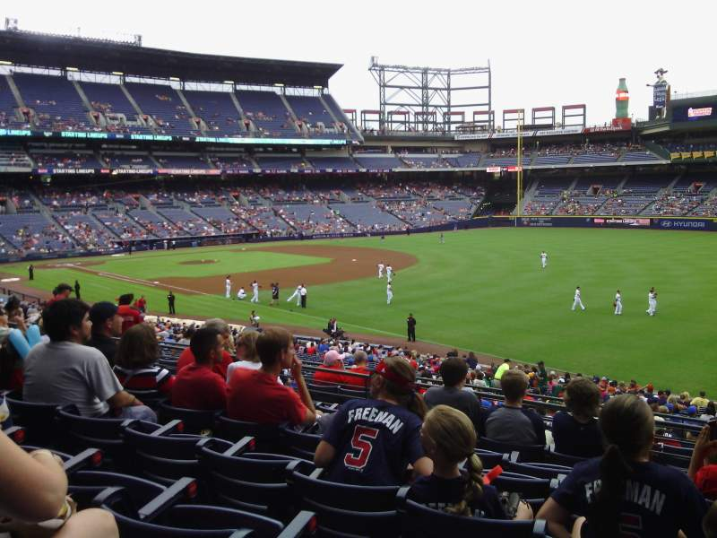Turner field section 225 l terrace level home of atlanta for Terrace level
