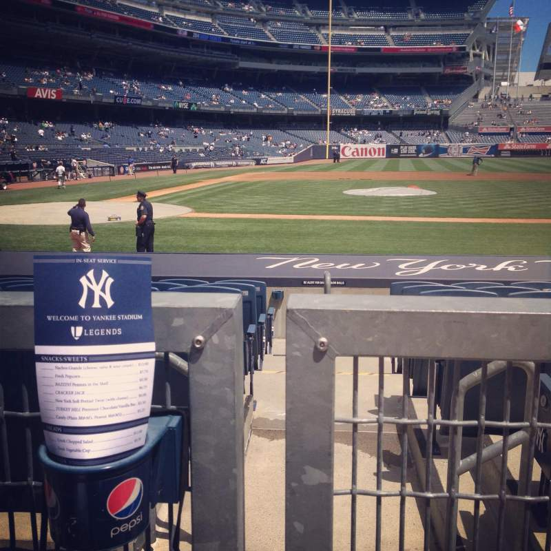 Seating view for Yankee Stadium Section 117a