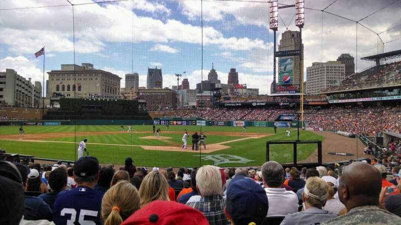 Seating view for Comerica Park Section 129 Row 18 Seat 7