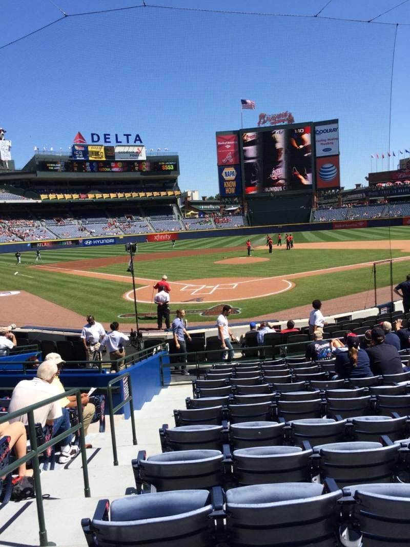 Seating view for Turner Field Section 101 Row 11