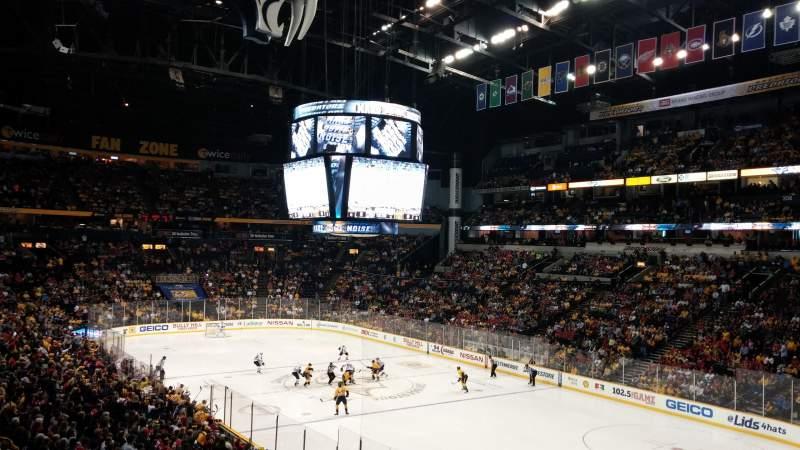 Seating view for Bridgestone Arena Section 119 Row P