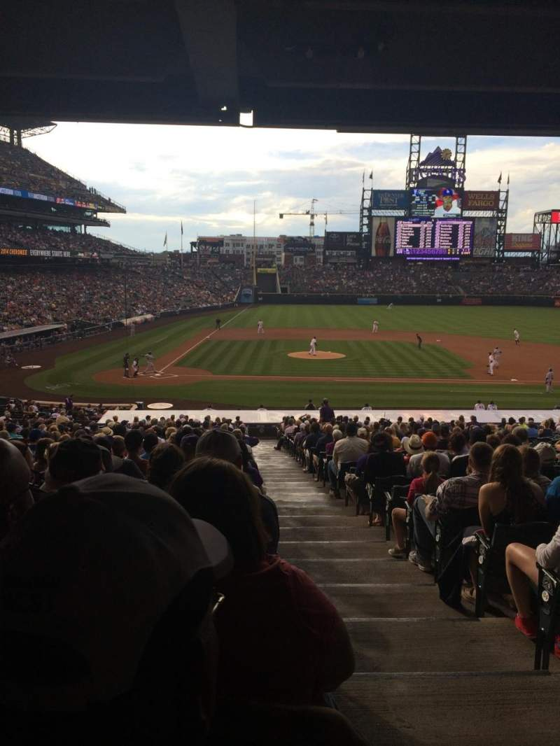 Seating view for Coors Field Section 125 Row 38 Seat 1
