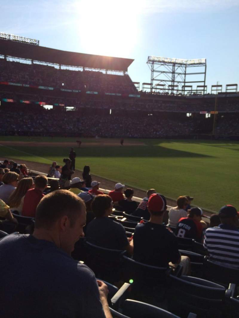 Seating view for turner field Section 125L Row 11 Seat 105
