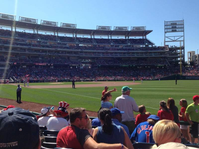 Seating view for Nationals Park Section 135 Row H Seat 1