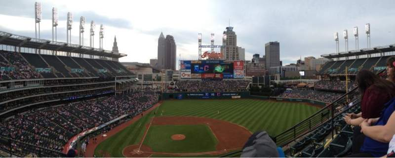 Seating view for Progressive Field Section 448 Row E Seat 7