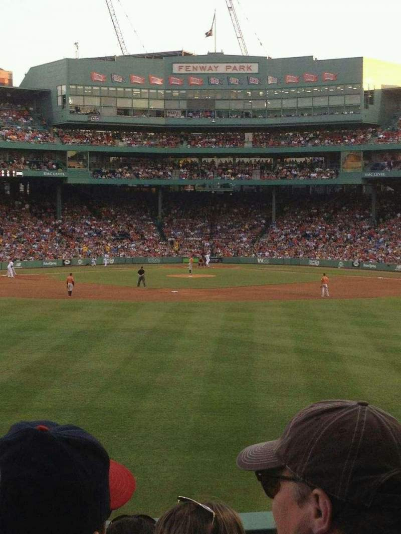Seating view for Fenway Park Section Bleacher 34 Row 4 Seat 6