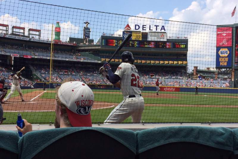 Seating view for Turner Field Section 105R Row 1 Seat 4