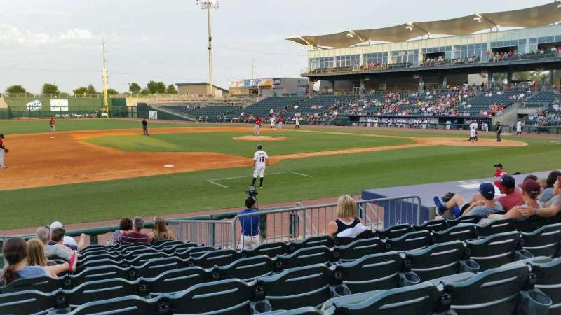Seating view for Arvest Ballpark Section 117 Row K Seat 15