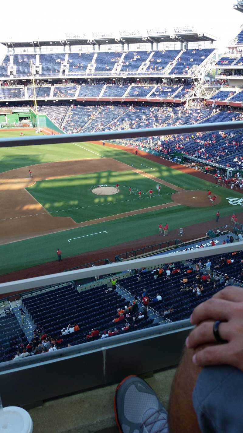 Seating view for Nationals Park Section 307 Row A Seat 19