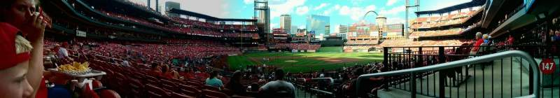 Seating view for Busch Stadium Section 148 Row 21 Seat 15