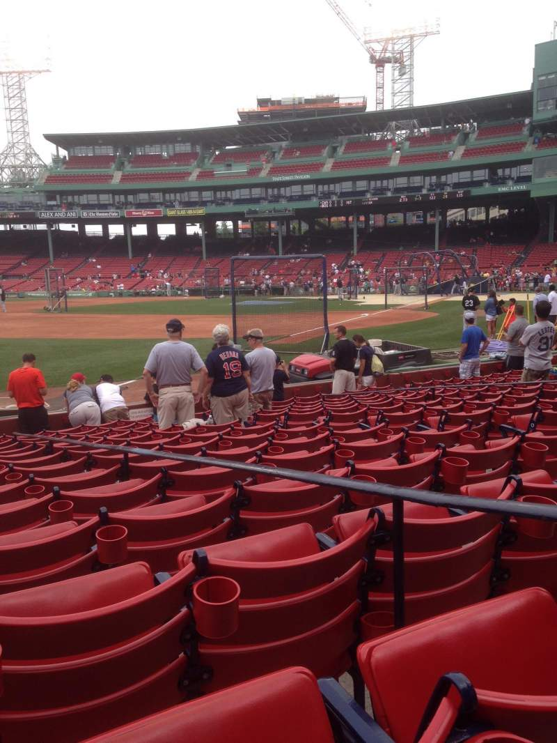 Seating view for Fenway Park Section Field Box 79 Row L Seat 3