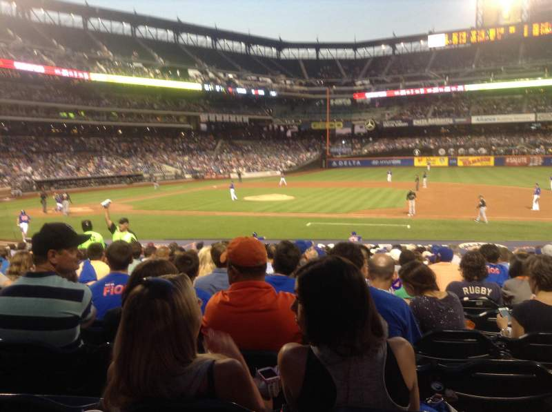 Seating view for Citi Field Section 113 Row 18 Seat 5
