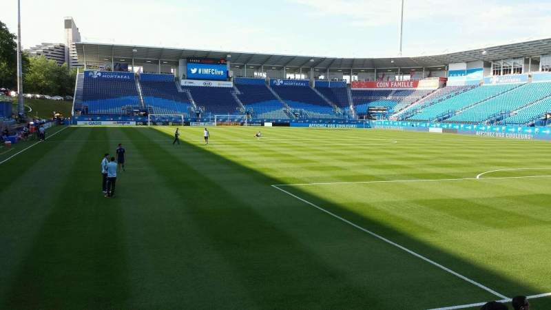 Seating view for Saputo Stadium Section 134 Row E Seat 17