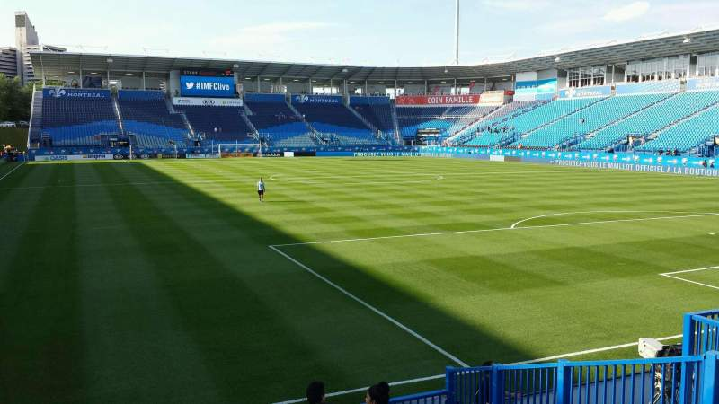 Seating view for Saputo Stadium Section 134 Row J Seat 16