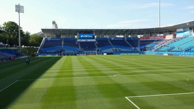 Seating view for Saputo Stadium Section 133 Row E Seat 13