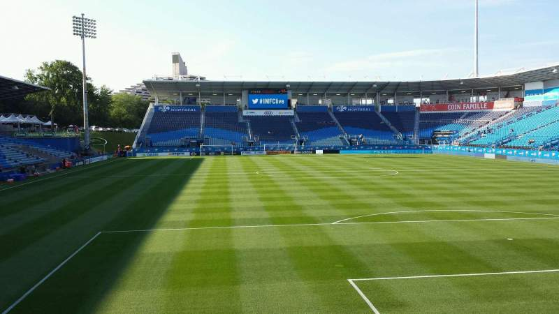 Seating view for Saputo Stadium Section 133 Row K Seat 13