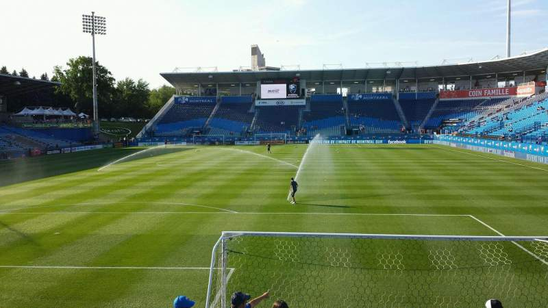 Seating view for Saputo Stadium Section 131 Row J Seat 13