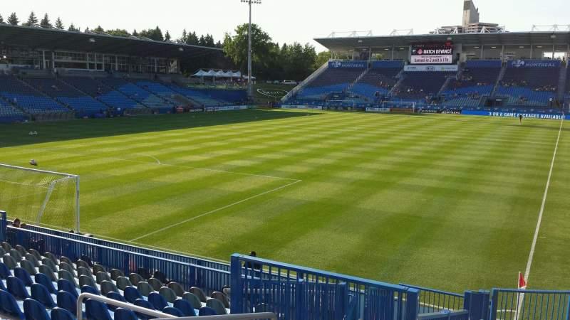 Seating view for Saputo Stadium Section 129 Row O Seat 5