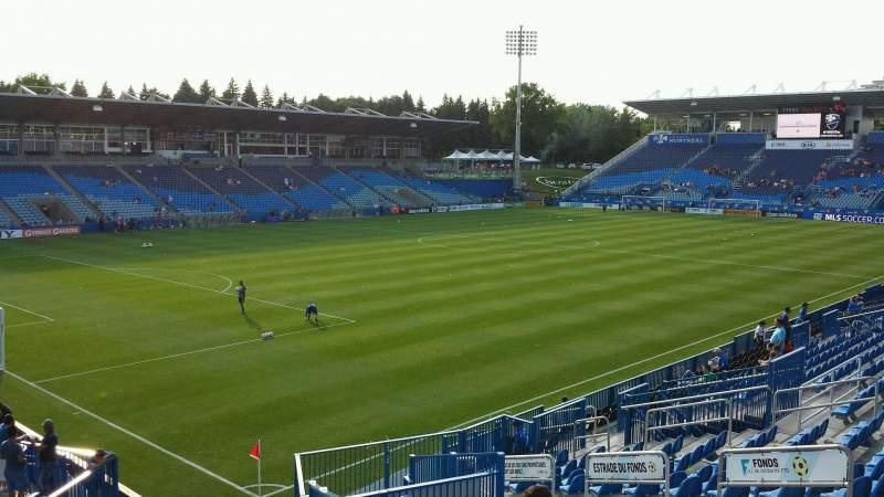 Seating view for Saputo Stadium Section 128 Row V Seat 13