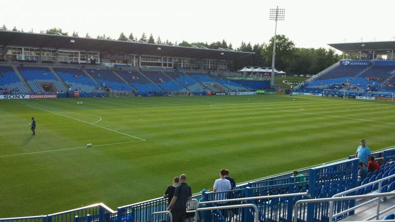 Seating view for Saputo Stadium Section 127 Row O Seat 9