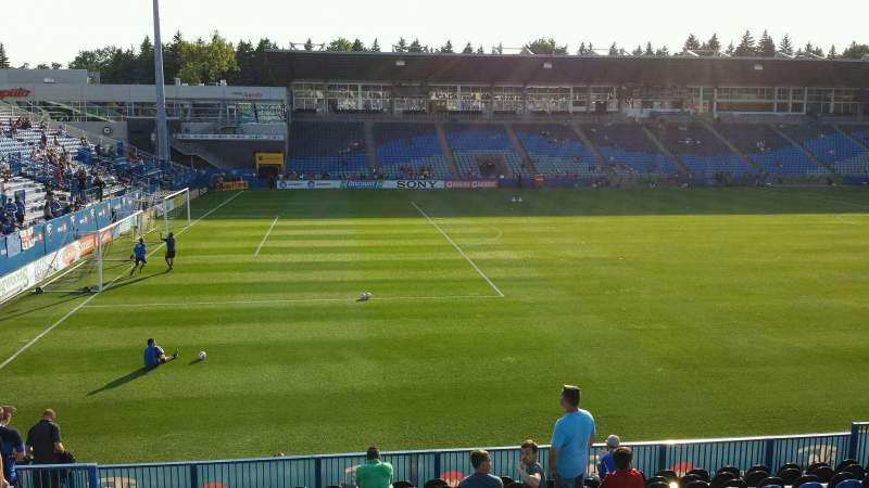 Seating view for Saputo Stadium Section 126 Row P Seat 18