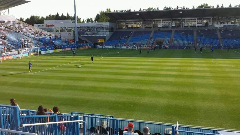 Seating view for Saputo Stadium Section 124 Row O Seat 14