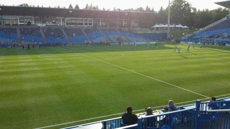 Seating view for Saputo Stadium Section 124 Row J Seat 13