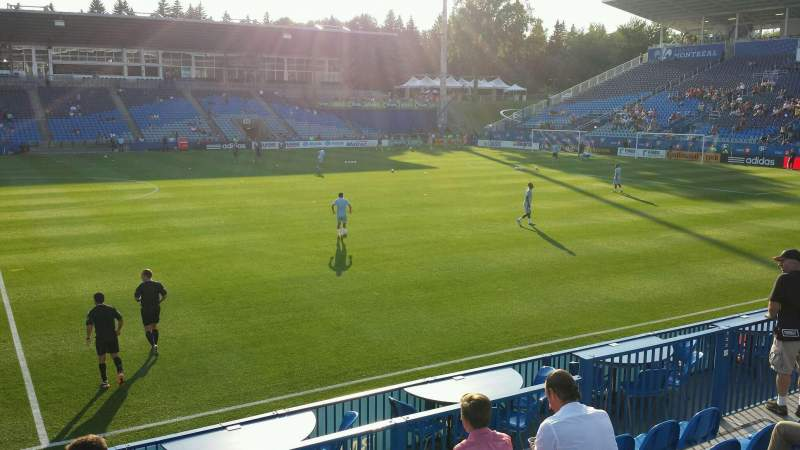 Seating view for Saputo Stadium Section 123 Row J Seat 14