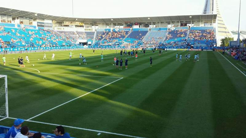 Seating view for Saputo Stadium Section 112 Row G Seat 7