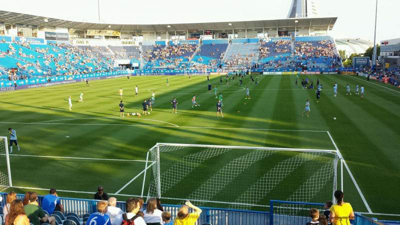 Seating view for Saputo Stadium Section 113 Row N Seat 4