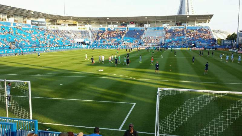 Seating view for Saputo Stadium Section 113 Row J Seat 13