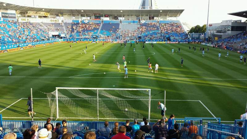 Seating view for Saputo Stadium Section 114 Row Q Seat 10