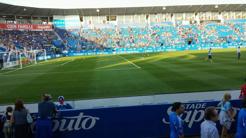 Seating view for Saputo Stadium Section 110 Row E Seat 11