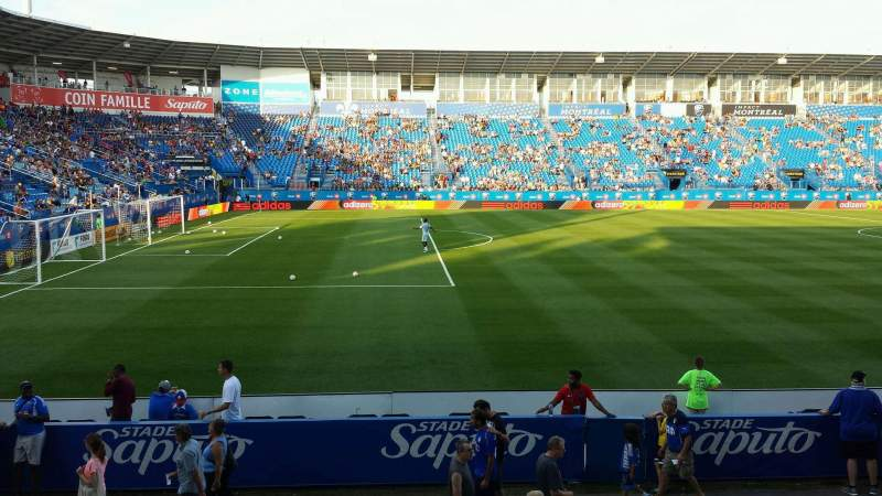 Seating view for Saputo Stadium Section 110 Row M Seat 6