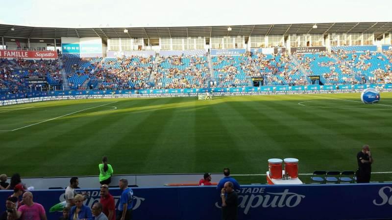 Seating view for Saputo Stadium Section 108 Row J Seat 11