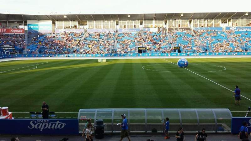 Seating view for Saputo Stadium Section 107 Row CC Seat 7