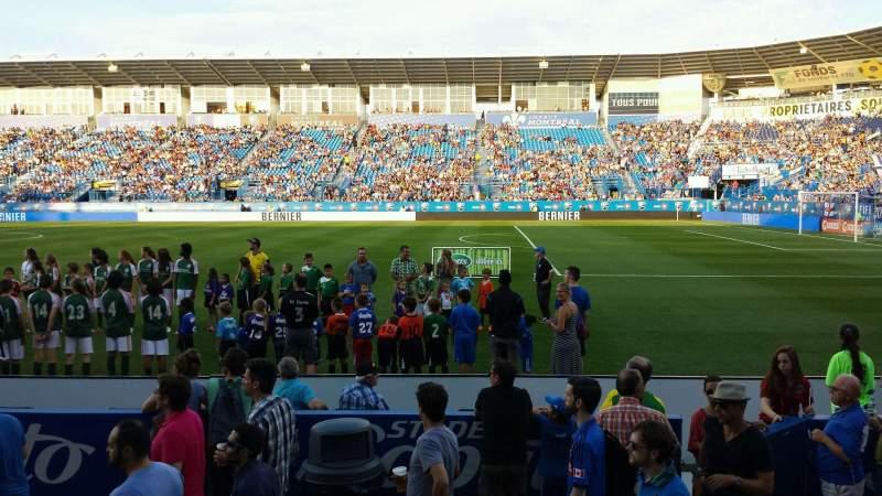 Seating view for Saputo Stadium Section 102 Row E Seat 8