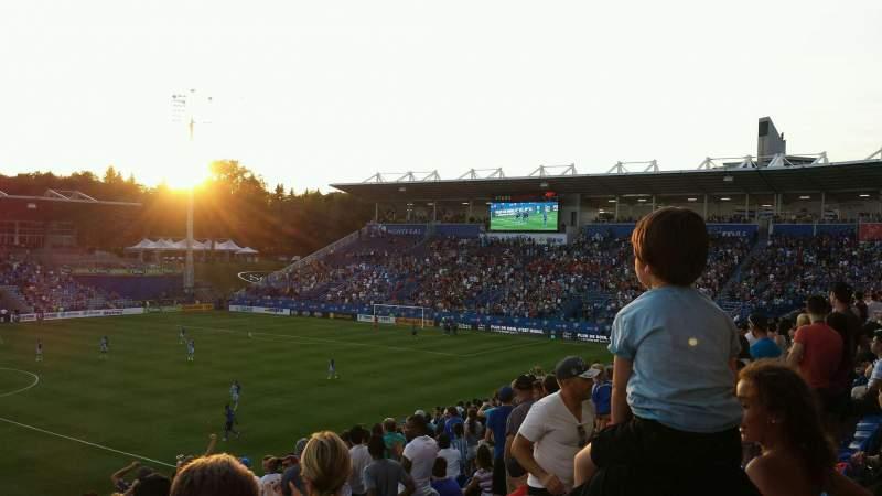Seating view for Saputo Stadium Section 125 Row Z Seat 9