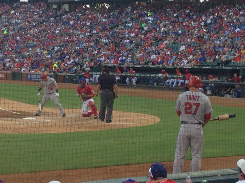 Seating view for Globe Life Park in Arlington Section VIP 21 Row 4 Seat 1