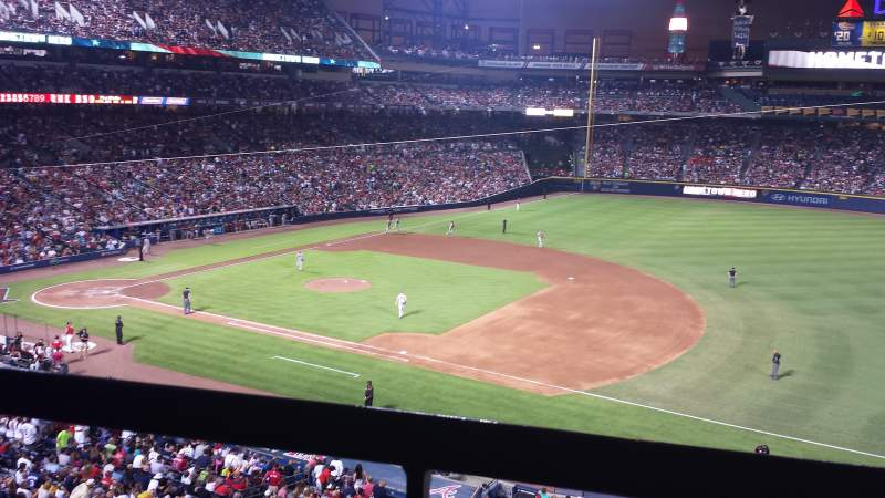 Seating view for Turner Field Section 315 Row 1 Seat 12