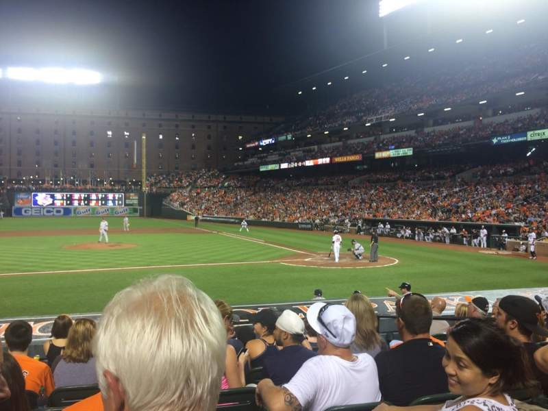 Seating view for Oriole Park at Camden Yards Section 50 Row 8 Seat 6