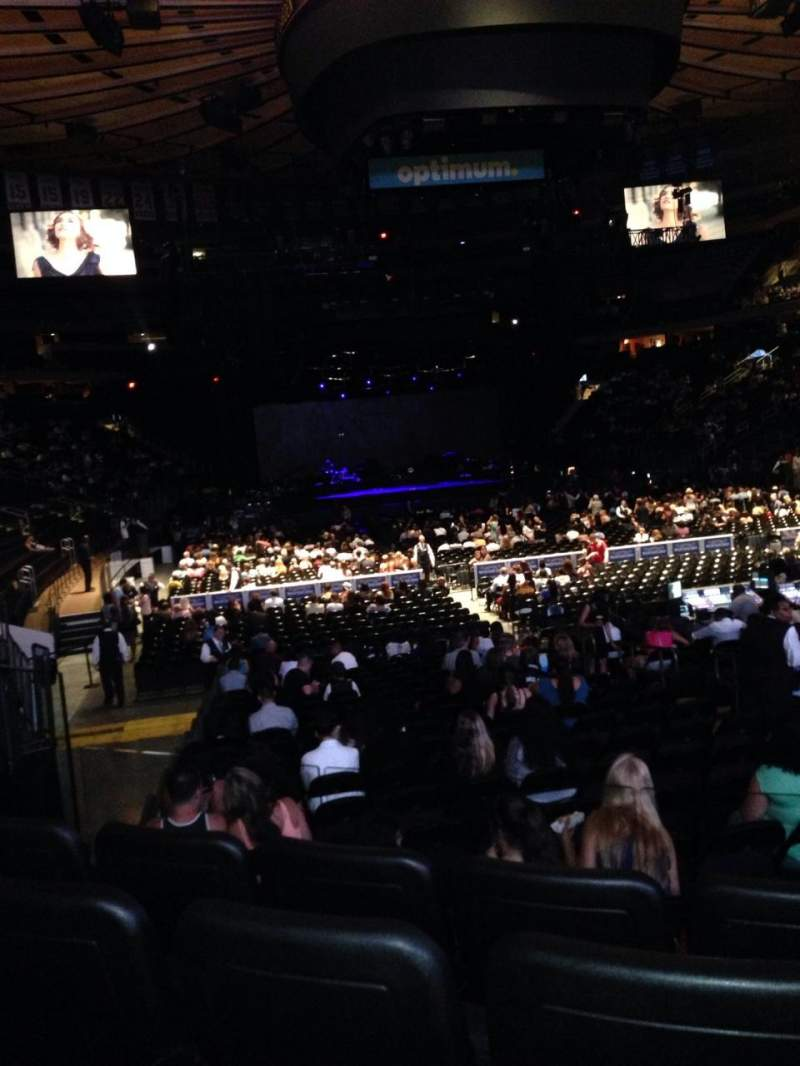 Seating view for Madison Square Garden Section 101 Row 9 Seat 7