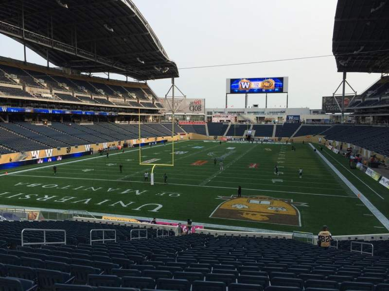 Seating view for Investors Group Field Section 139 Row 28 Seat 10