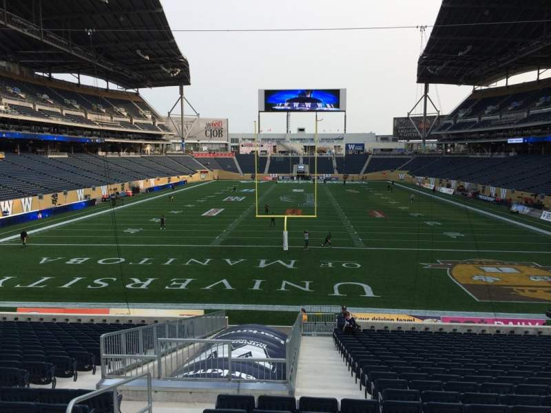 Seating view for Investors Group Field Section 140 Row 24 Seat 17