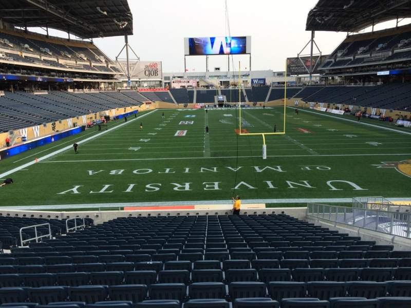 Seating view for Investors Group Field Section 141 Row 24 Seat 13