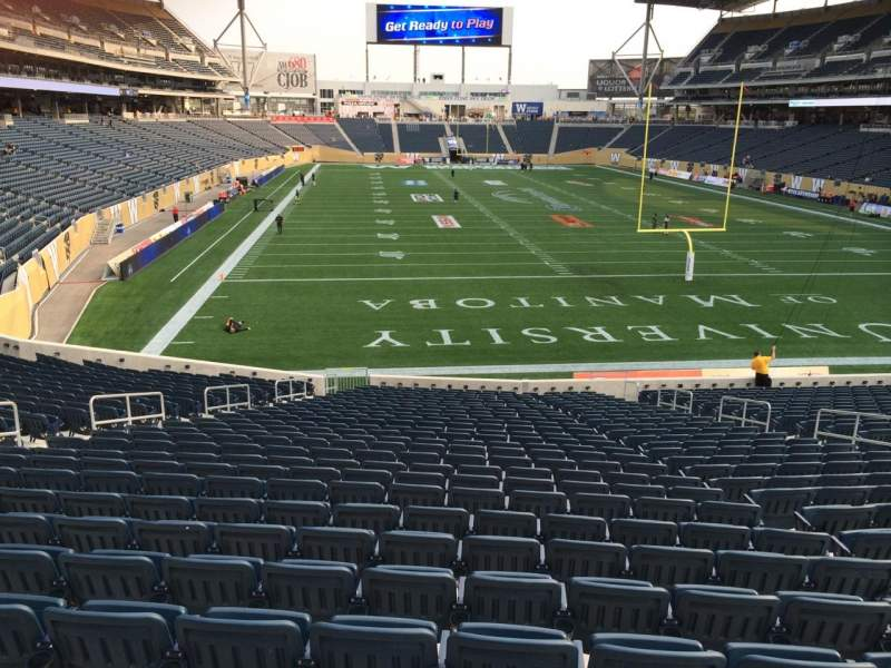 Seating view for Investors Group Field Section 142 Row 28 Seat 13