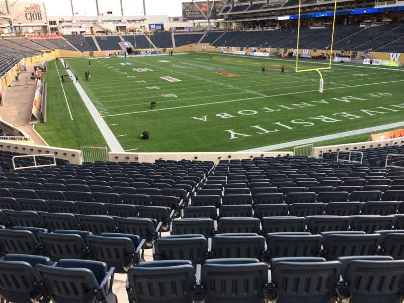Seating view for Investors Group Field Section 143 Row 23 Seat 13