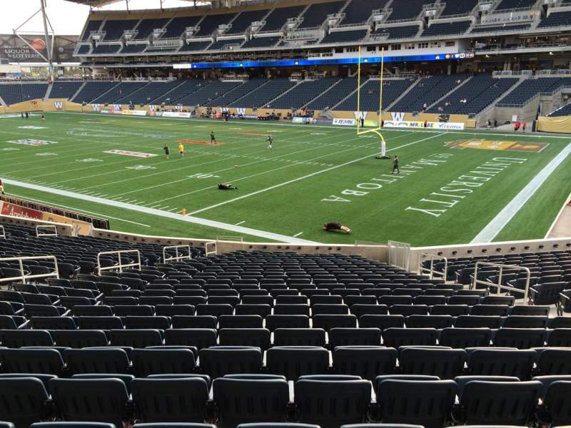 Seating view for Investors Group Field Section 101 Row 25 Seat 8