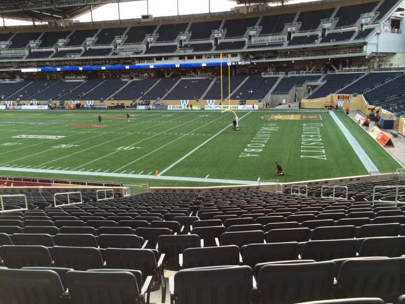 Seating view for Investors Group Field Section 102 Row 24 Seat 10