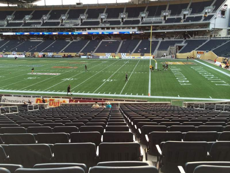 Seating view for Investors Group Field Section 103 Row 24 Seat 11